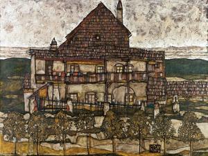 House with Shingle Roof (Old House II) by Egon Schiele