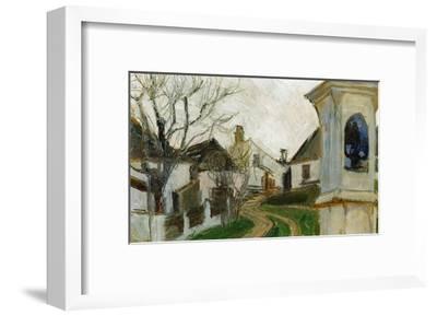 Kahle Baeume, Haeuser Und Bildstock (Klosterneuburg, Austria)