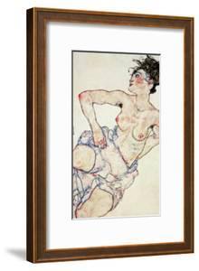 Kneeling Female Semi-Nude, 1917 by Egon Schiele