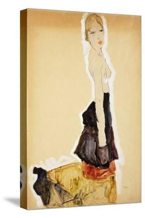 Kneeling Girl with Spanish Skirt; Knieendes Madchenmit Spanischem Rock, 1911
