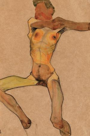 Male Nude, Yellow, 1910 by Egon Schiele