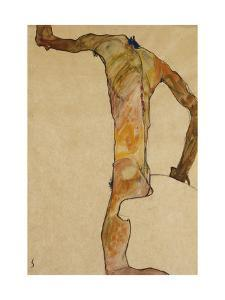 Male Nude by Egon Schiele