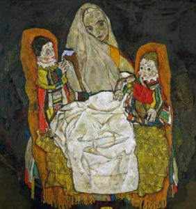 Mother with Two Children, 1915 by Egon Schiele