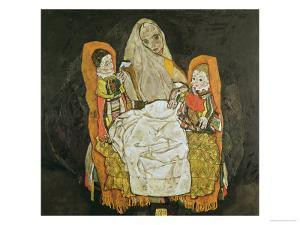 Mother with Two Children, 1917 by Egon Schiele