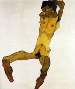 Nu Masculin Assis I, c.1910 by Egon Schiele