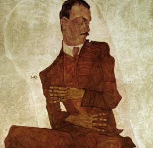 Portrait Arthur Roessler, 1910 by Egon Schiele