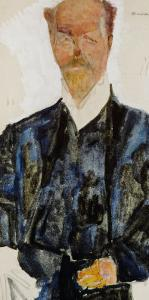 Portrait of Architect Otto Wagner by Egon Schiele