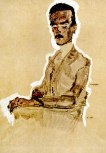 Portrait of Eduard Kosmack, Seated, 1910 by Egon Schiele