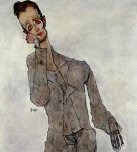 Portrait of Painter Karl Zakovsek, 1910 by Egon Schiele