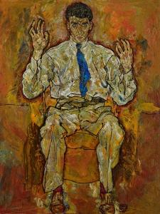 Portrait of Paris Von Gütersloh, 1918 by Egon Schiele