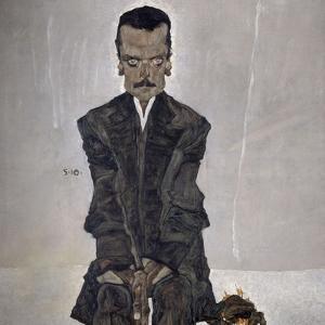 Portrait of the Publisher Eduard Kosmack, 1910 by Egon Schiele
