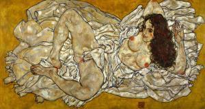 Reclining Woman, 1917 by Egon Schiele