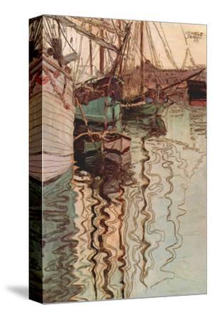 Sailboats In Wollenbewegten Water