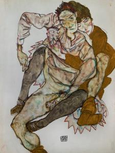 Seated Couple (Egon Und Edith Schiele), 1915 by Egon Schiele