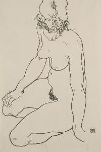 Seated Female Nude, 1918 by Egon Schiele