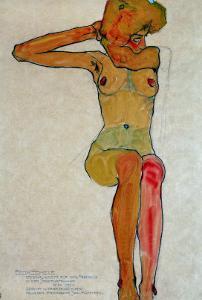 Egon Schiele Woman Seated Bent Knee