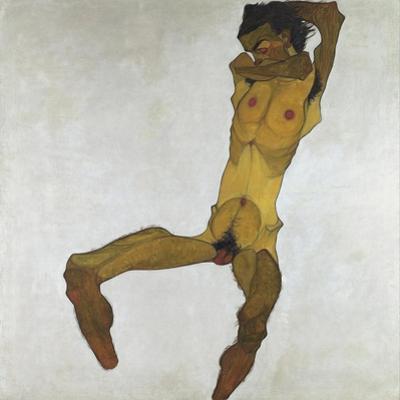 Seated Male Nude (Self-Portrait), 1910
