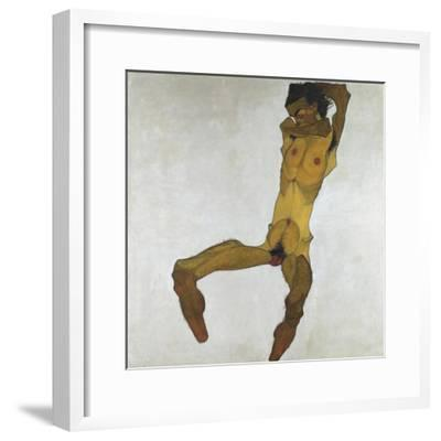 Seated Male Nude (Self-Portrait), 1910