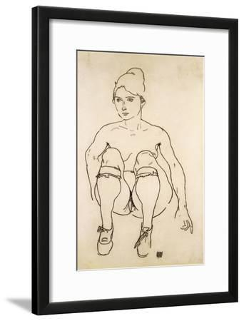 Seated Nude with Shoes and Stockings; Sitzende Akt Mit Schuhen Und Strumpfen, 1918