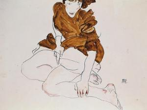 Seated Woman, 1912 by Egon Schiele