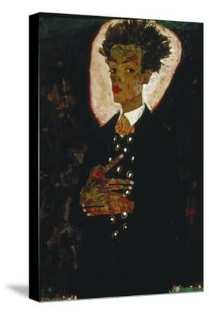 Self-Portrait with Peacock Vest Standing, 1911
