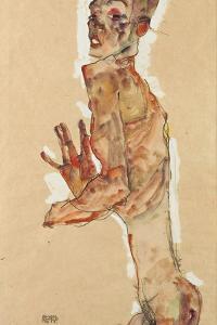 Self-Portrait with Splayed Fingers, 1911 by Egon Schiele