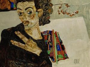 Self-Portrait with Spread Fingers, 1911 by Egon Schiele