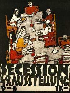 Sezessionsplakat 1918, Poster for the 49th Secession Exhibition by the Neukunstgruppe, Austria by Egon Schiele