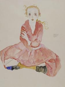 Sitzendes Maedchen, 1911 by Egon Schiele
