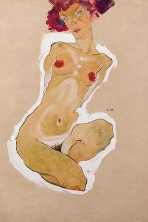 Squatting Female Nude, 1910