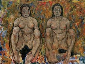 Squatting Women, 1918 by Egon Schiele