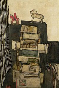 Still Life with Books, 1914 by Egon Schiele