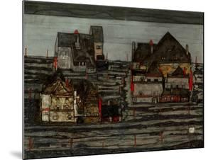 Suburb I, 1914 by Egon Schiele