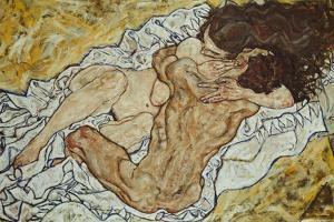 The Embrace (Lovers II,), 1917 by Egon Schiele