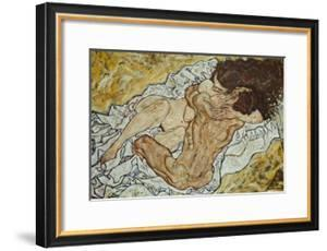 The Embrace (Lovers II,), 1917 by Egon Schiele