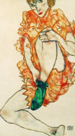 The Green Stocking, 1914 by Egon Schiele