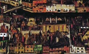 The Small City III, 1913 by Egon Schiele