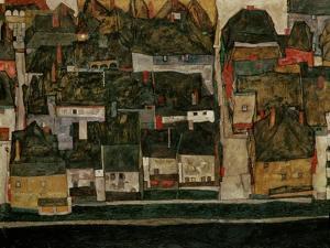 The Small City IV, (Krumau on the Moldau), 1914 by Egon Schiele