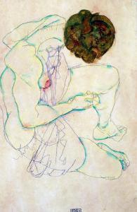 Triple Selfportrait, 1913 by Egon Schiele