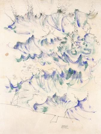 Waves. Wellen. Egon Schiele. Gouache and Pencil on Buff Paper, 1912 by Egon Schiele
