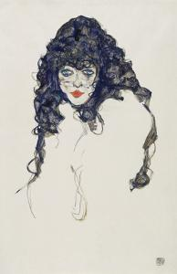 Woman with Long Hair, 1914 by Egon Schiele
