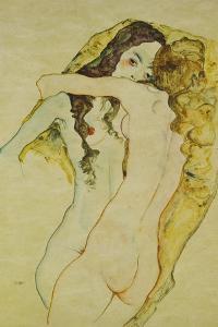 Zwei Frauen in Umarmung, 1911 by Egon Schiele