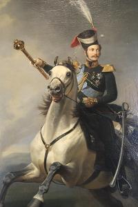 Portrait of the Tsesarevich Alexander Nikolaevich on Horseback, 1850S by Egor Botman