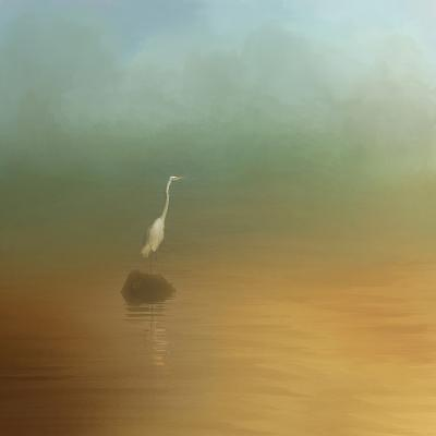 Egret at Sea-Jai Johnson-Giclee Print