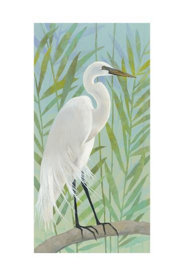 Egret by the Shore I-Kathrine Lovell-Art Print
