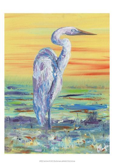 Egret Sunset I-Olivia Brewington-Art Print
