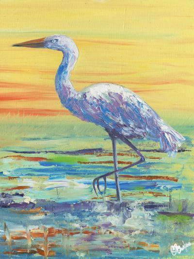 Egret Sunset II-Olivia Brewington-Art Print