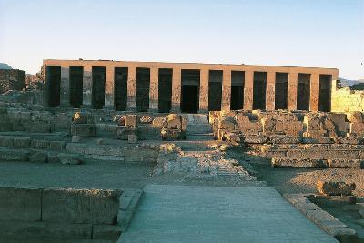 Egypt, Abydos, Temple of Pharaoh Seti I, New Kingdom--Giclee Print