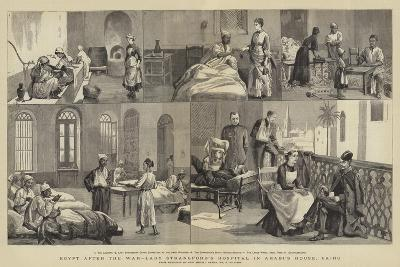 Egypt after the War, Lady Strangford's Hospital in Arabi's House, Cairo-Frederic Villiers-Giclee Print