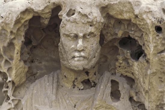 Egypt, Alexandria, Catacombs of Kom-Esh-Shuqafa, Interior of the Hypogeum, Detail of a Statue--Giclee Print